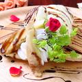 料理メニュー写真チョコバナナ パンケーキ