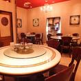 テーブル円卓。上海な雰囲気。ニーハオです。