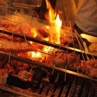 素材の味をそのままに豪快に炭火で焼き上げる絶品のお肉