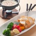 料理メニュー写真■ずわい蟹入りチーズフォンデュ