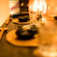ちょっとした飲み会や宴会に最適なお席です。他のお客様を気にすることなく有意義な時間をお過ごしくださいませ!