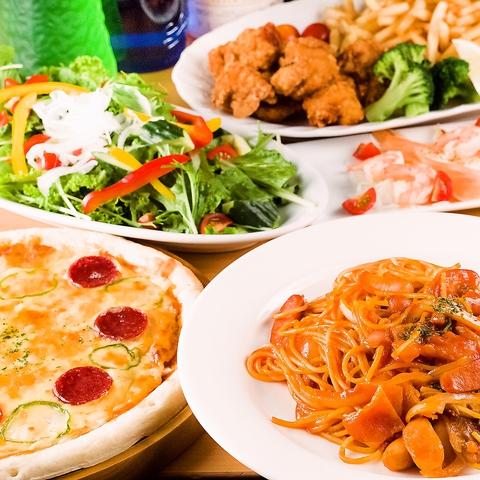 事前予約でお得♪最大6時間!◆昼宴会12:00〜18:00◆料理(6品)+ソフトドリンク(飲み放題)