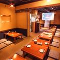 2階座席です。35名様~貸切OK☆最大50名までの宴会に対応!プロジェクタースクリーン、マイク貸出も可!