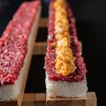 料理メニュー写真桜うにユッケ寿司