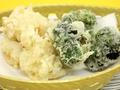 料理メニュー写真河豚とブロッコリーの天麩羅