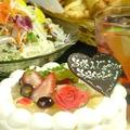 料理メニュー写真ホールケーキ付☆お誕生日コース≪飲み放題付≫