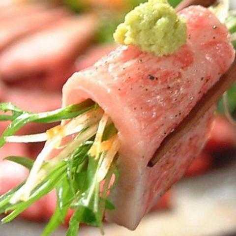 食通が通う名店。山葵で食す特選上ロースは食べてみる価値あり!