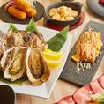 ★8/1NEWOPEN★広島名産の牡蠣!!牡蠣のバター焼きや牡蠣の酒蒸しなど、広島ならではの地場の食材を使ったお料理もお任せください♪全席和モダン個室となっておりますので、2名様から最大40名様までのご宴会予約大歓迎!!
