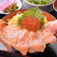 ランチ限定♪サーモンいくら丼定食・・・780円!お手軽に新鮮海鮮を♪