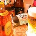 お酒も種類豊富にご用意ております。飲み放題メニューもご用意☆宴会にもお使いいただけます。