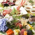 直送朝獲れ新鮮な旬のお魚を揃えてお待ちしております。ボリュームも味も申し分なし!大人数様でも満足頂ける飲み放題付き宴会プランも多数ご用意しております。自慢の新鮮食材を使用した絶品料理に舌鼓を打ちながら、当店で特別なひとときをお過ごしください。絶品料理がテーブルを華やかに囲みます!