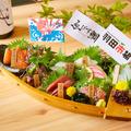 料理メニュー写真舟盛り鮮魚7点盛り