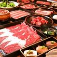 お肉も牛・豚・鶏と種類豊富。アラカルトメニューもございますので、お肉が飽きたら箸休めに。
