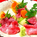 料理メニュー写真枕崎産マグロビンタ刺(ほほ肉)