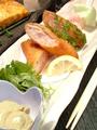 料理メニュー写真海老とエリンギの揚げ春巻