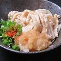 料理メニュー写真(湯引きor揚げ) 鶏皮ポン酢