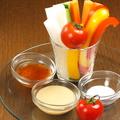 料理メニュー写真バーニャカウダの野菜スッティク