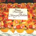 料理メニュー写真結婚式2次会 ウェディングケーキ
