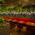 ◆名古屋初のボタニカル系カフェ◆お洒落な空間と緑の癒し空間でごゆっくりした時間をお過ごしください。