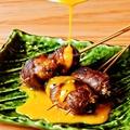 料理メニュー写真和牛すき焼き串