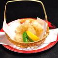 料理メニュー写真帆立の天ぷら
