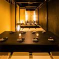 2~120名様までご利用可能な個室席多数取り揃えております。情緒あふれる和モダンな雰囲気でゆったりご宴会をお楽しみください♪