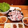 サムギョプサル食べ比べセット2人前2618円(税込)!