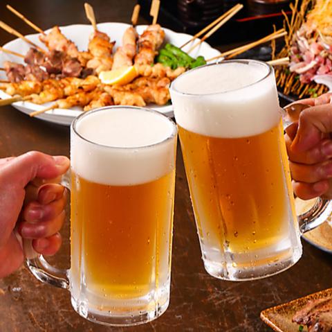 ★生ビールあり★飲み放題付き! とり一コース 3000円
