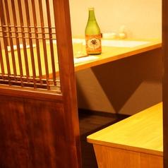 2名様までご利用いただける個室席。デートや接待、大切な会食のご利用にどうぞ。