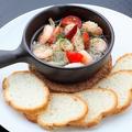 料理メニュー写真【全12種類の手作りアヒージョ】海老のアヒージョ