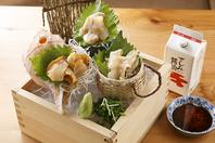 お店の名前にも入っている貝や魚は毎日三浦から仕入れ!