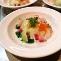 料理メニュー写真季節の野菜のブランマンジェ 海の幸添え