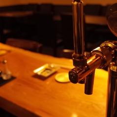 当店の生ビールは「カールスバーグ」となっております。お仕事帰りにお一人で軽く飲みたいそんな時にもぜひご利用下さいませ。