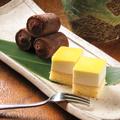 料理メニュー写真日向夏レモンケーキと生チョコアイス