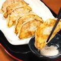 料理メニュー写真岩塩で食べる焼餃子