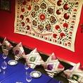 異国情緒が漂う店内で、都内でも珍しいウズベキスタン料理を楽しむことができます。