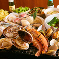 【NEWOPEN】当店では新鮮な貝類の浜焼きをお楽しみいただけます!赤海老・播磨灘産牡蠣・蛤・パーナ貝・ウチムラサキ貝・干物を卓上のコンロで焼ける大衆酒場です!浜焼きと相性抜群のチャミスル・JINROで乾杯!