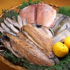 料理メニュー写真沼津と北海道直送の干物