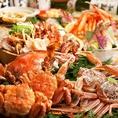 ズワイガニ・タラバガニが食べ放題+逸品も食べ放題でこのお値段!4980円!