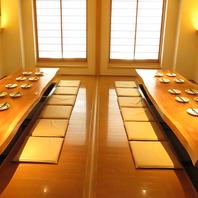 最大ご宴会40名様完全個室空間をご用意いたします。