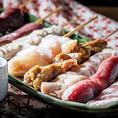 串盛りあります◎豚・鶏・塩焼・タレ焼がそれぞれ盛合せボリュームも価格も割安!!