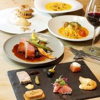 米村昌泰氏による料理監修。フレンチ&イタリアンを提供