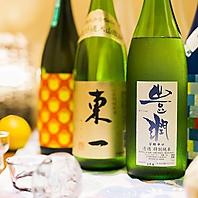 ◆九州の焼酎や日本酒が豊富