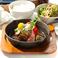 ランチ新メニュー!ハンバーグステーキ定食イタリアンソース。モッツァレラチース、ベーコン、グリル野菜と具沢山。