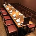10名様~12名様用。会社の同僚との飲み会、家族での食事会と様々なシーンで対応可能な個室です♪