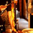 【こだわりの焼き方 手順1】なんといっても「まるみち」のオススメはMEGAホルモン♪スーパーマルチョウは驚きの長さ!!