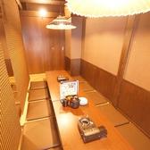 広々座れる掘りごたつ個室席は、会社宴会や飲み会に最適です。
