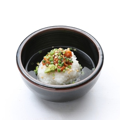 お茶づけ(チャンジャ・梅・塩こんぶ・鮭ハラス)