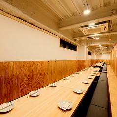 【60名様向け完全個室】 京都駅前エリア屈指の団体様歓迎の広々空間です!
