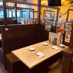 【4名様テーブル】ゆったり座れるテーブル席!